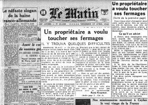 Le Matin 1942